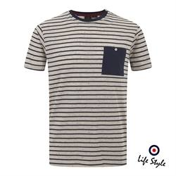 T-shirt righe Merc London