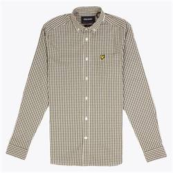 Lyle-Scott-Green-Gingham-Slim-Shirt
