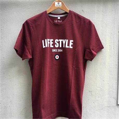 life style t-shirt bordeaux