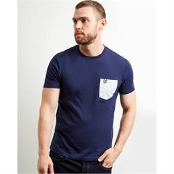 T-shirt contrast taschino Lyle & Scott