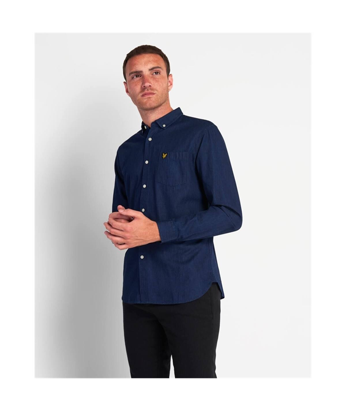 LW910V camicia jeans denim lyle Scott