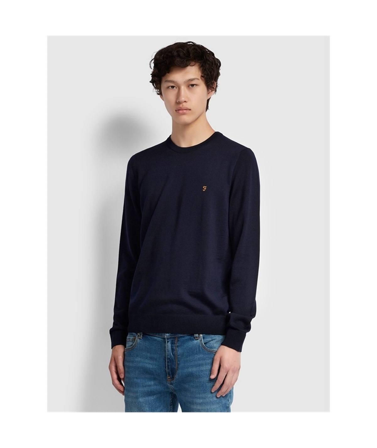 mullen blu maglia lana farah casuals
