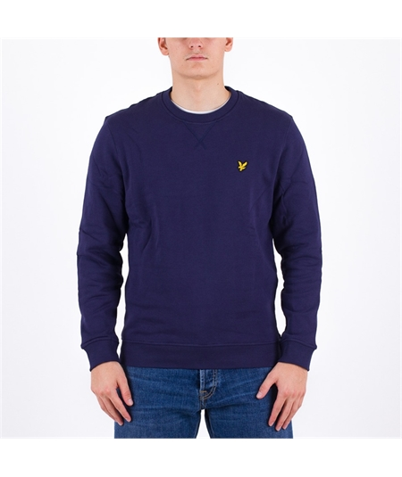 ml1131 felpa blu navy lyle scott casuals brushed felpata invernale