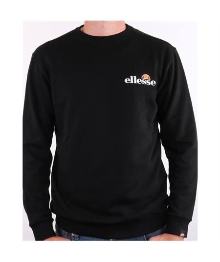 felpa fierro girocollo ellesse-emb-logo-sweatshirt-black