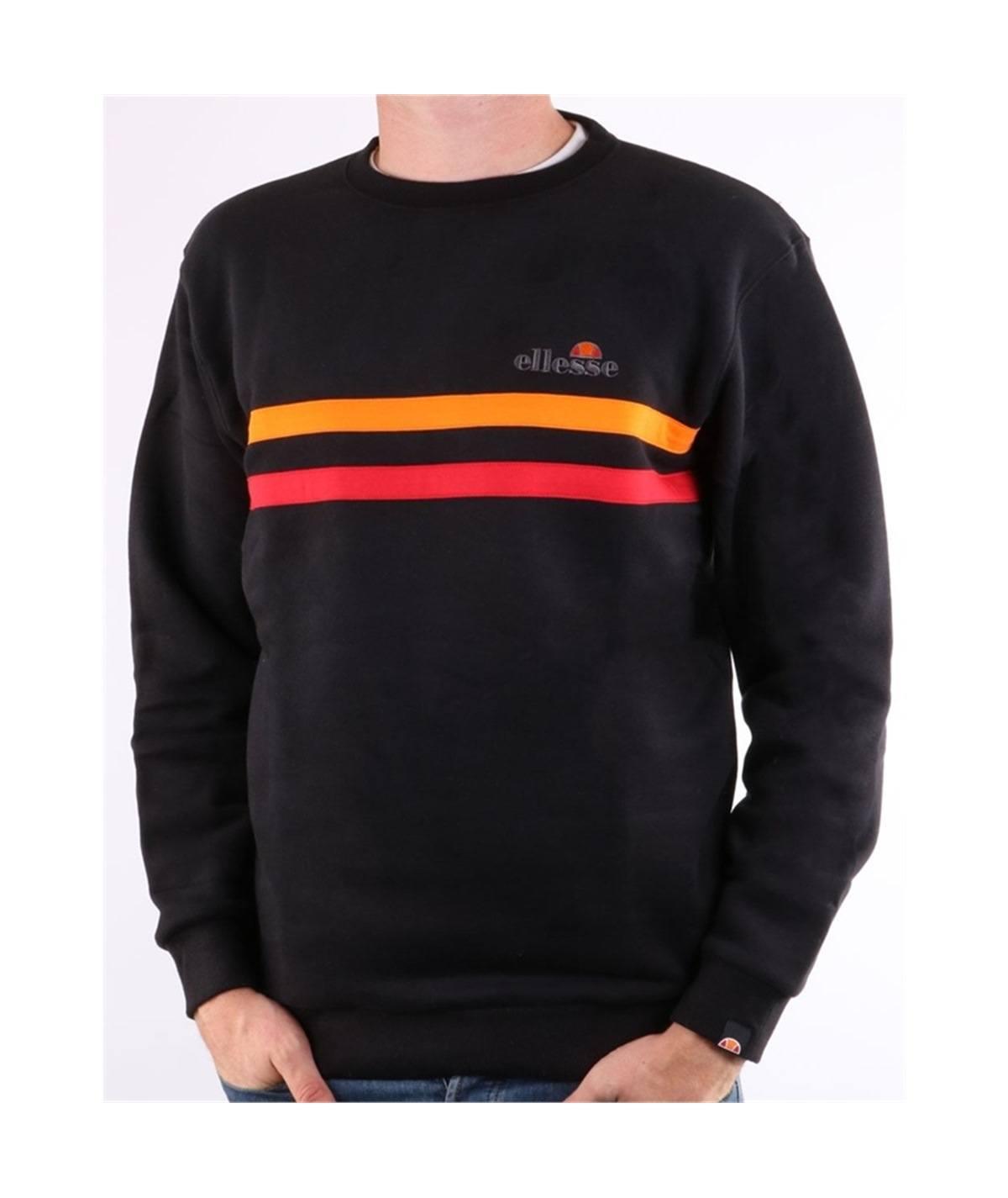 felpa ellesse-erminion-sweatshirt-black-orange-red romanista