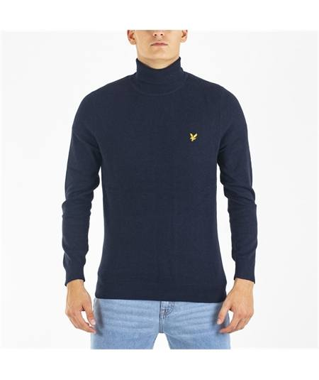 maglia dolcevita casual Lyle scott KN1020V navy roll neck