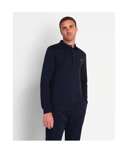 LP1386V polo collar navy lyle scott casual