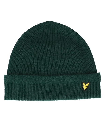 racked-rib-beanie-jade-green-cuff-lyle-scott cappello casuals