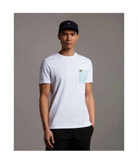 TS831V_t-shirt pocket lyle scott white deck blue