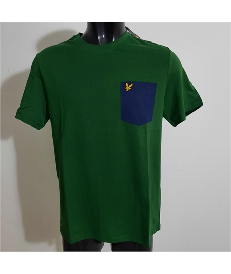 t-shirt pocket lyle scott english green