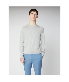 63370 maglia girocollo cotone Ben Sherman grigio steel 1