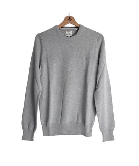 63370 maglia girocollo cotone Ben Sherman grigio steel copia