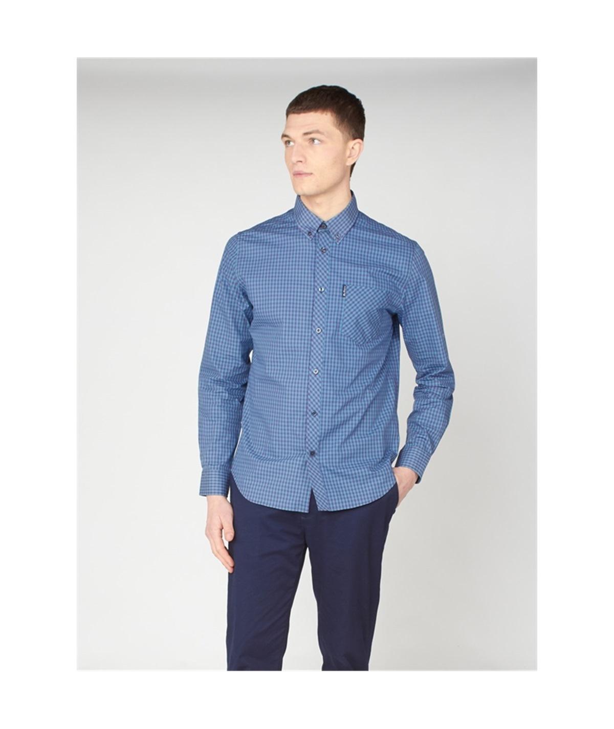 59141 camicia check bicolor ben sherman plum 1