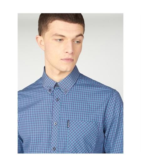 59141 camicia check bicolor ben sherman plum 2