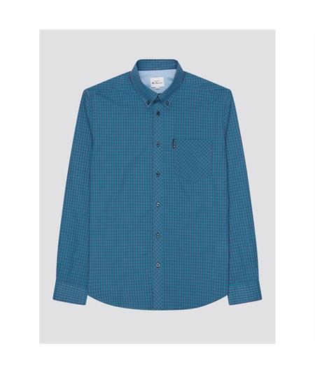 59141 camicia check bicolor ben sherman plum 4