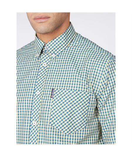 59141 camicia check bicolor ben sherman yellow 2