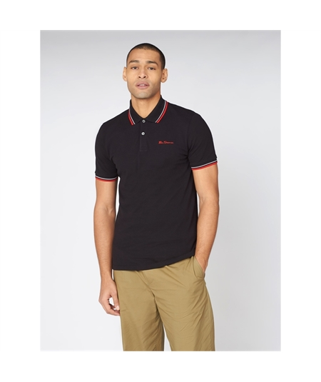 59310 polo basica ben sherman black 1