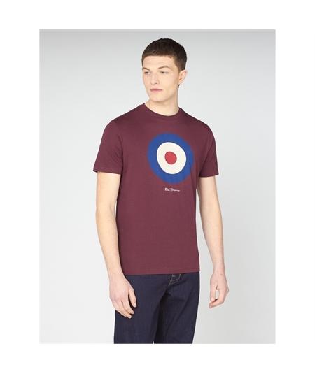 65093 t-shirt target mod ben sherman wine 1
