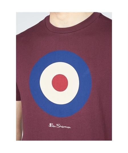 65093 t-shirt target mod ben sherman wine 2