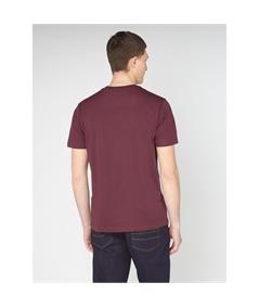 65093 t-shirt target mod ben sherman wine 3