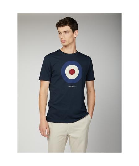 65093 t-shirt target mod ben sherman dark navy 1