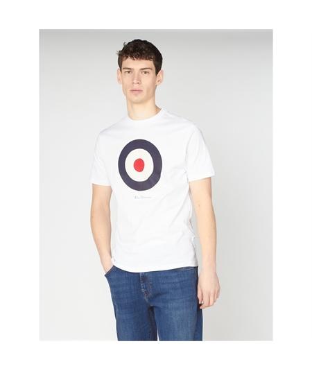 65093 t-shirt target mod ben sherman white 1