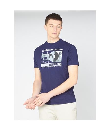 64043 t-shirt spliced music ben sherman 1