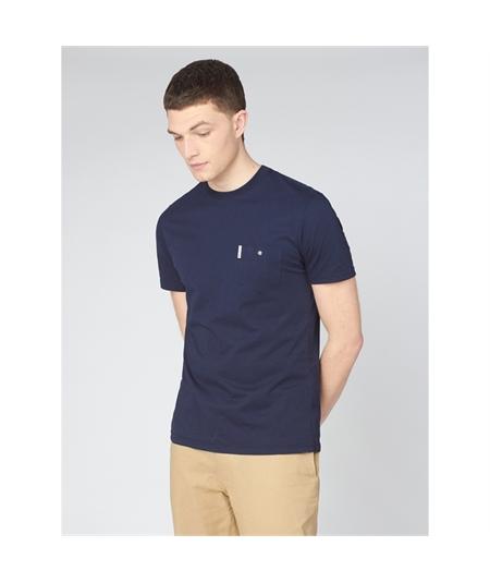 59326 t-shirt pocket ben sherman dark navy 1
