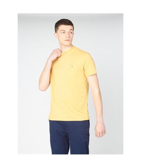 59326 t-shirt pocket ben sherman pale yellow 1