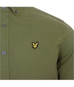camicia lino verde lyle scott 2