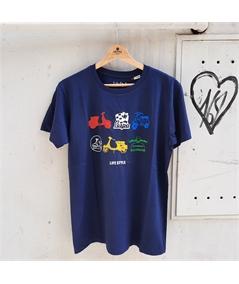 T-shirt vespa life style blu navy 1