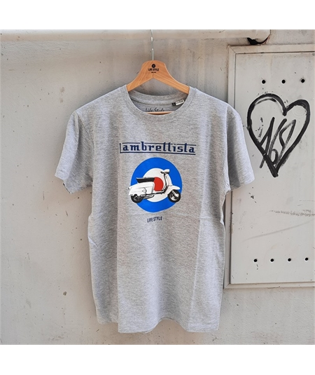 T-shirt lambretta life style grigio 1