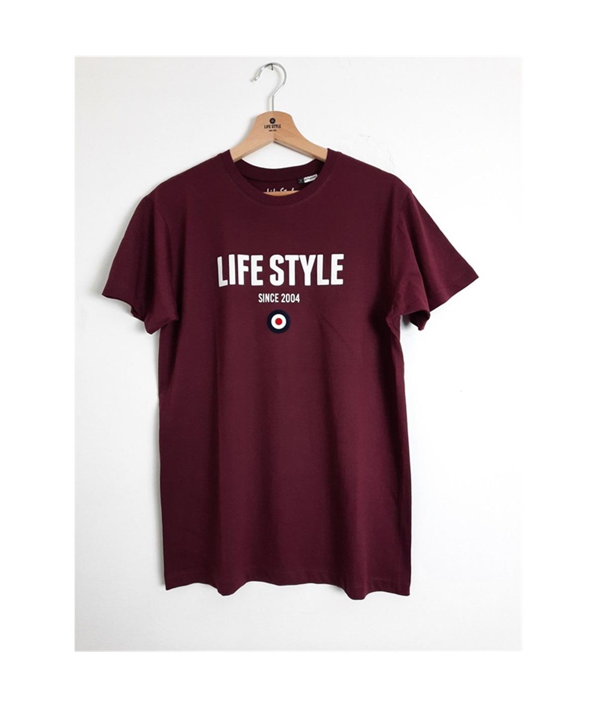 t-shirt life style flock bordeaux 1