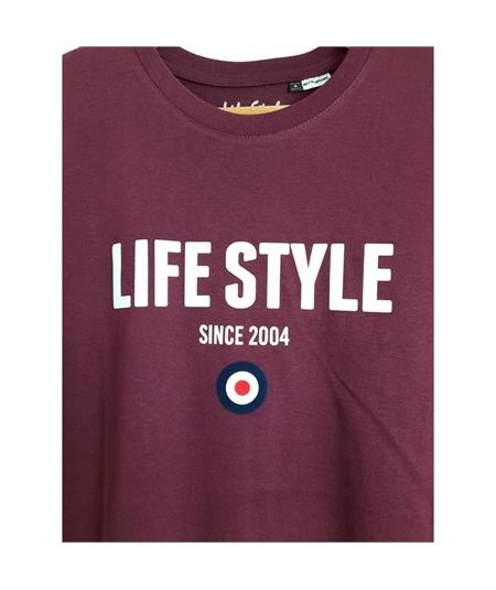 t-shirt life style flock bordeaux 2
