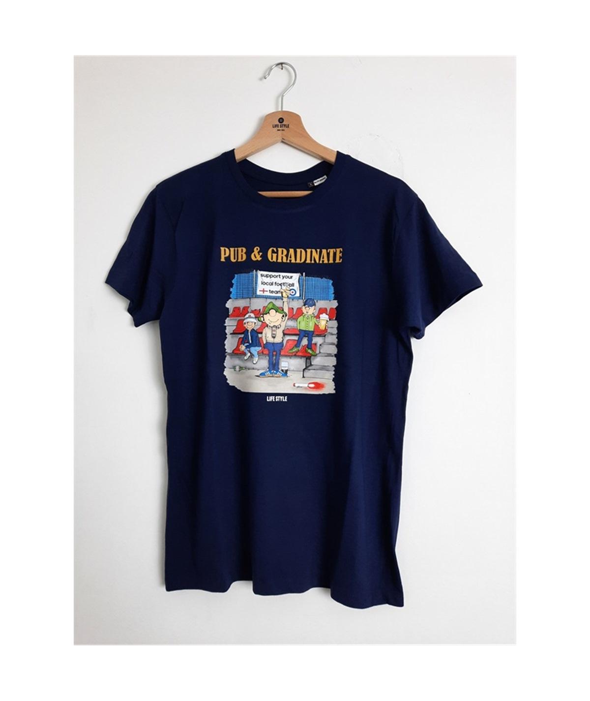T-shirt pub e gradinate life style blu navy 1