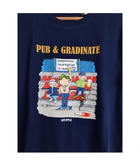 T-shirt pub e gradinate life style blu navy 2