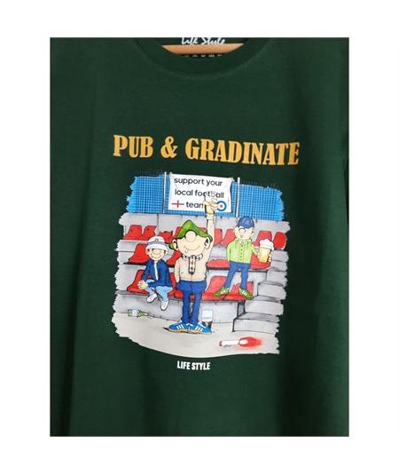 T-shirt pub e gradinate life style verde 2