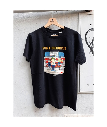 T-shirt pub e gradinate life style nero black 1