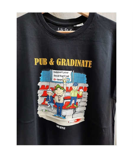 T-shirt pub e gradinate life style nero black 2
