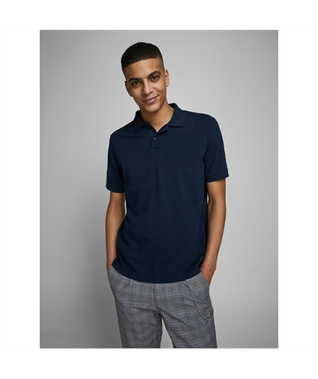 polo basic cotone pique jack and jones