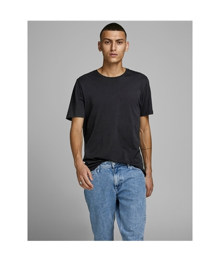 t-shirt basic Jack & Jones nero