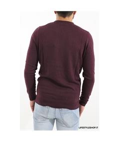 Kn400 maglia cotone lana Lyle & Scott Bordeaux