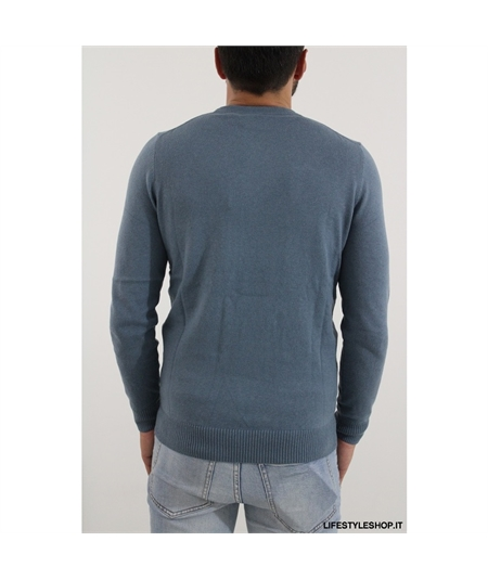 KN400 Maglia cotone lana Lyle Scott bright blue