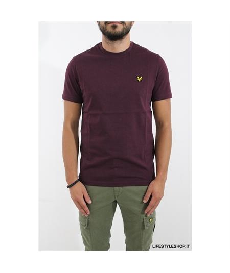 TS400 t-shirt lyle scott  burgundy