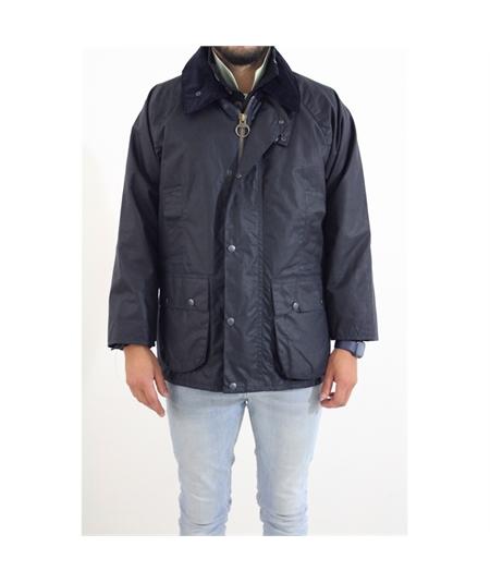 giacca cerata spacco posteriore blu