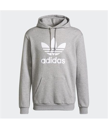 Hoodie_adidas_Classics_Trefoil_Grigio_H06669 felpa cappuccio